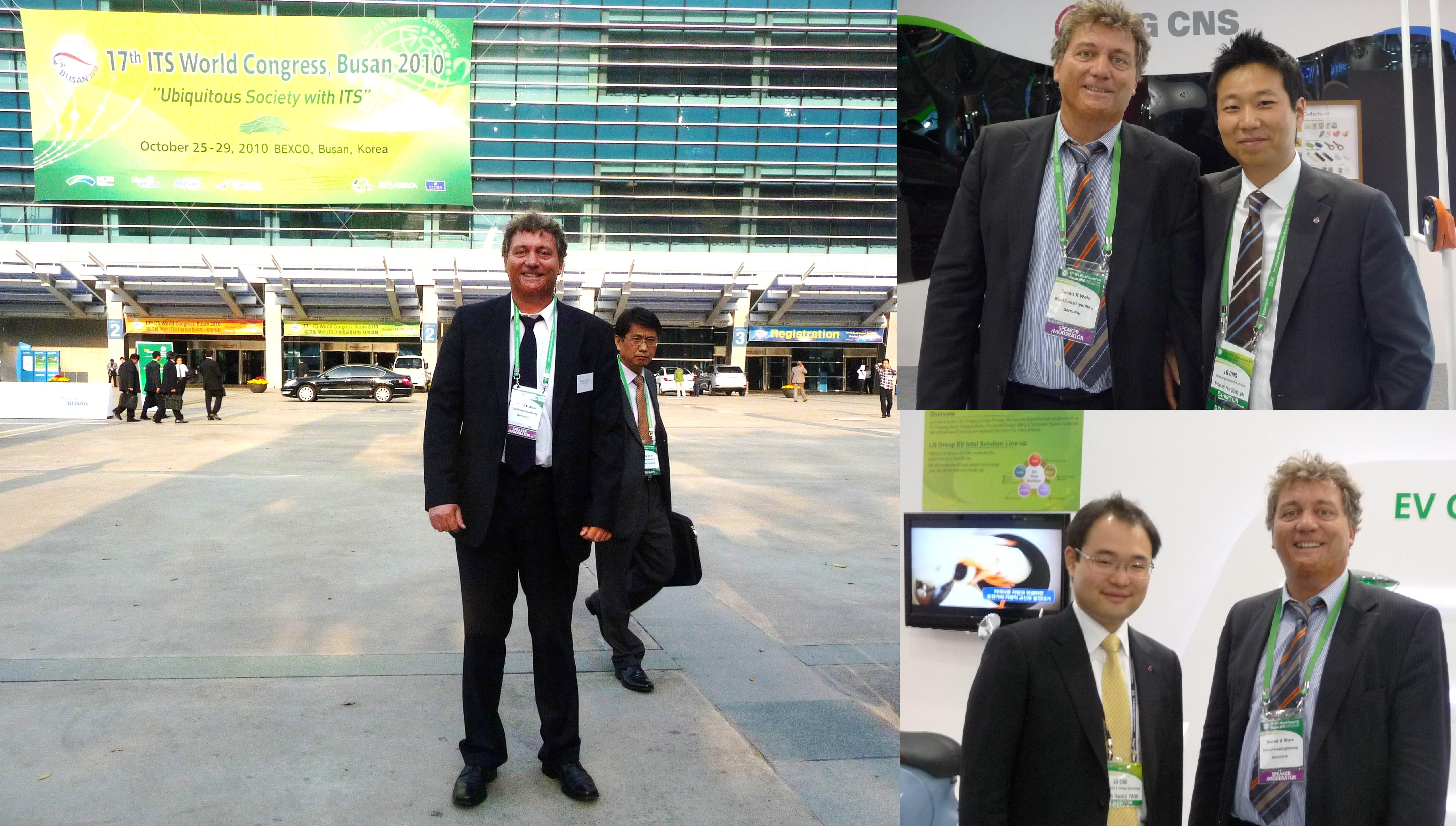 At ITS World Congress 2010 in Busan, Korea